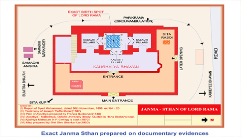 Janma Sthan is the place where Ram Lallaji is Virajman